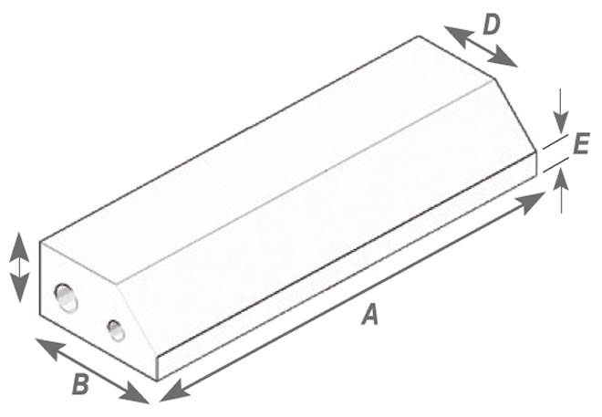 Angled Press Single Corner Brick 30 (Thin)