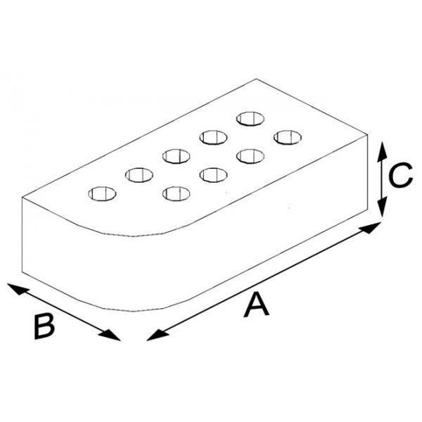 Porous Press Brick (Oval)