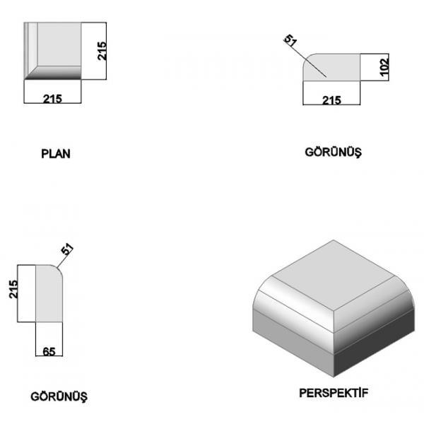 Oval Corner Bricks