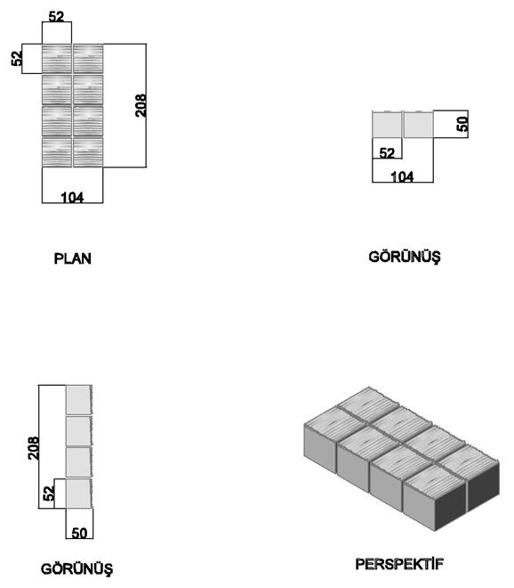 Mosaic Parquet Tiles (8 pcs)