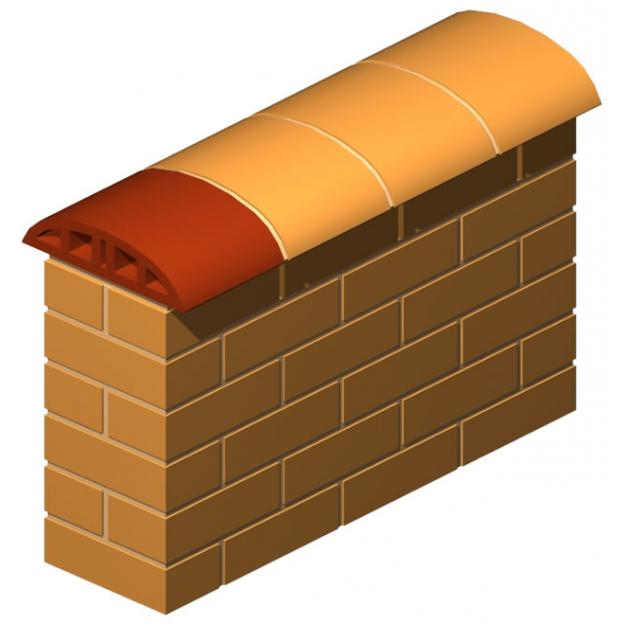 Double Nose Oval Coping Brick 19 cm