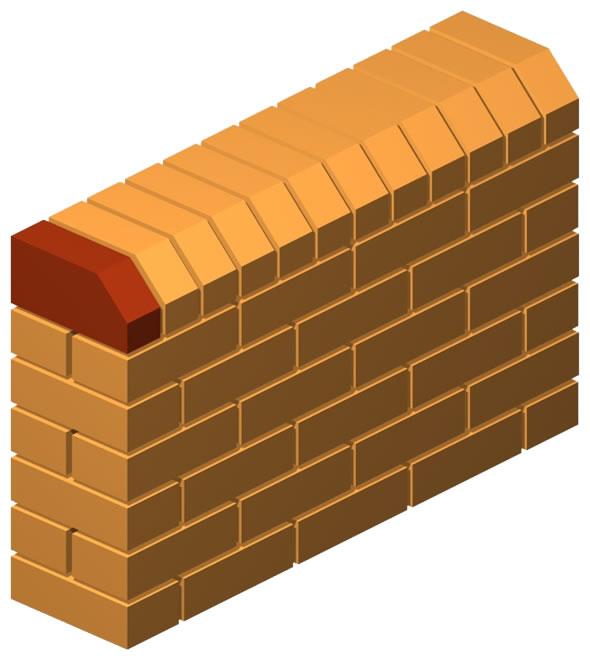 Angled Press Cut Angular Brick (Solid)