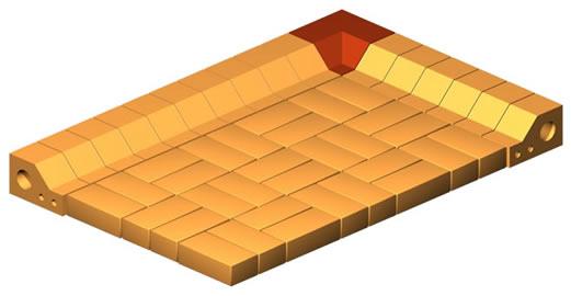 Clinker Border Inner Corner Brick (Thin)