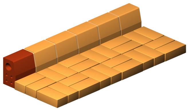 Clinker Curb Brick (Double)