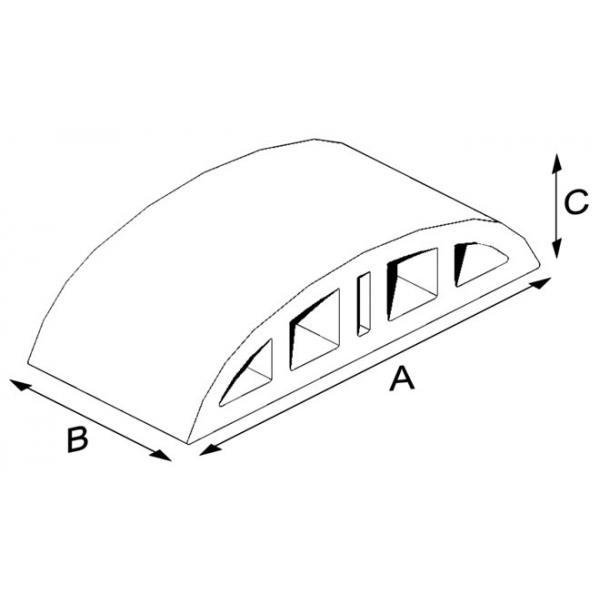 Çift Burun Oval Harpuşta Tuğlası 13 cm