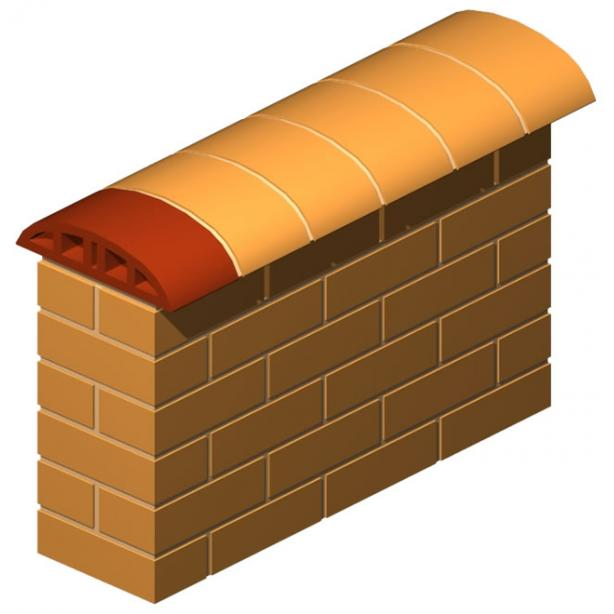 Double Nose Oval Coping Brick 13 cm