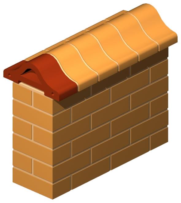 Backbone Coping Brick 30 cm (Half)