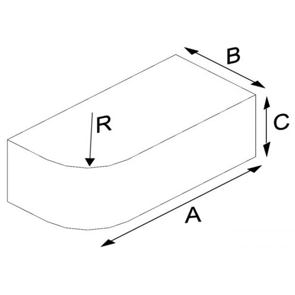 Oval Press Single Nose Brick (Solid)