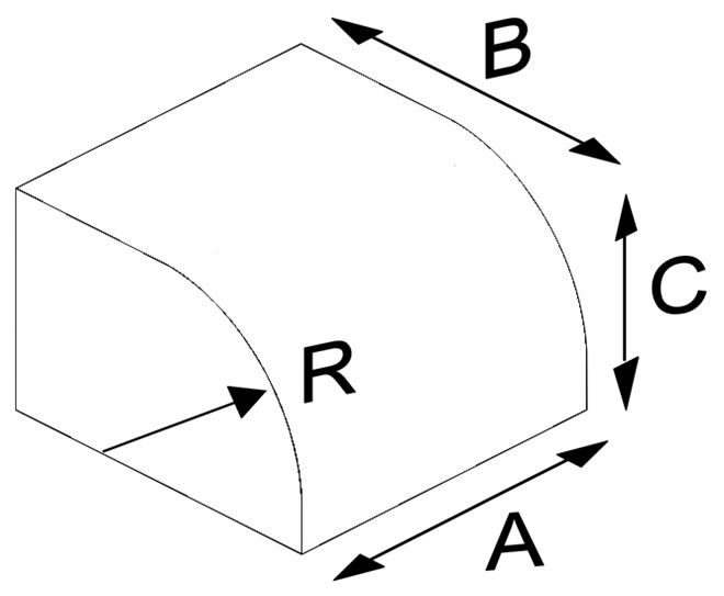 Oval Press Quarter Circle Brick (Solid)