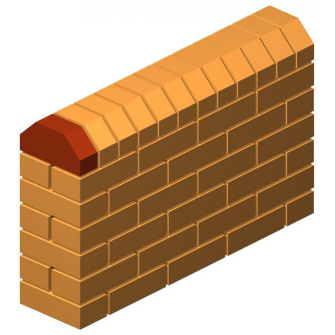 Angle Press Double Cut Corner Brick (Solid)