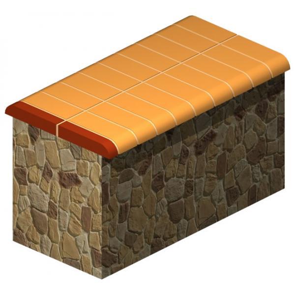 Taş Duvar Üstü Bitiş Tuğlası (Dolu)
