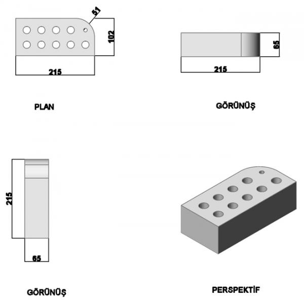Oval Press Single Nose Brick