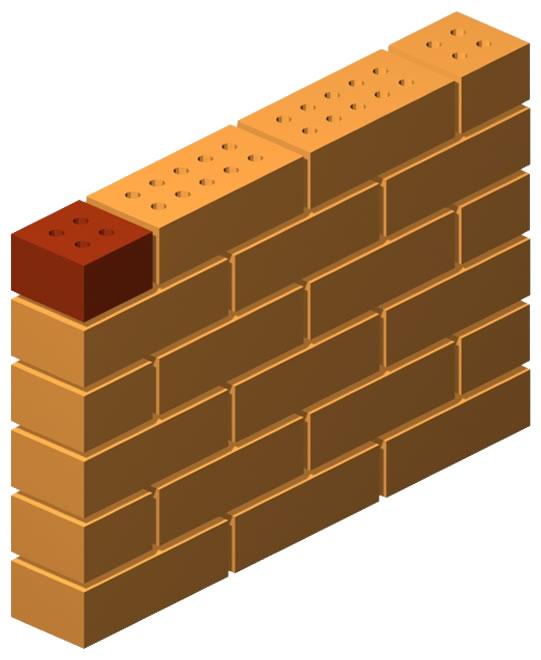Half Clinker Press Brick