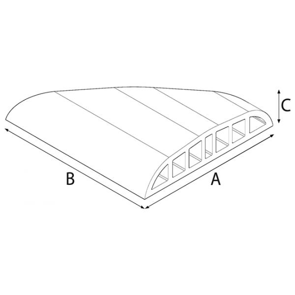 Double Nose Oval Coping Brick (Corner)
