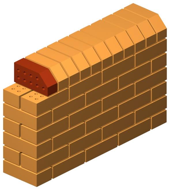 Angled Press Cut Corner Brick