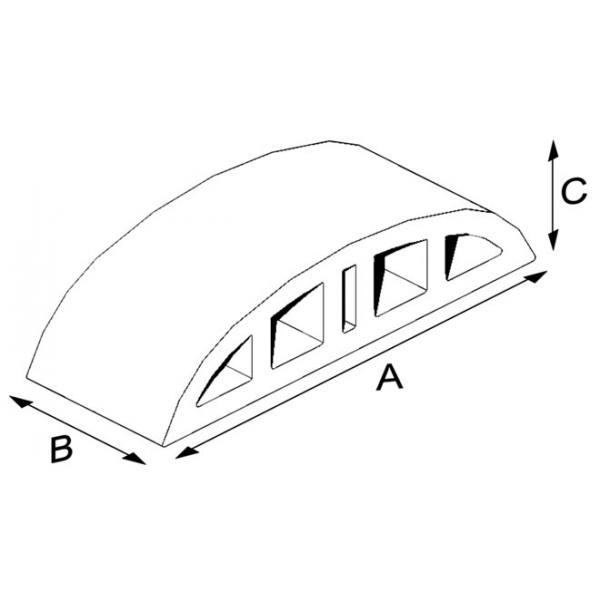 Çift Burun Oval Harpuşta Tuğlası 10.5 cm
