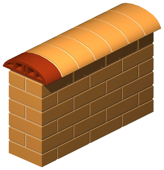 Double Nose Oval Coping Brick 10.5 cm