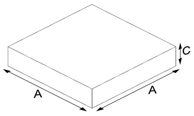 Square Clinker Floor Brick 4 cm