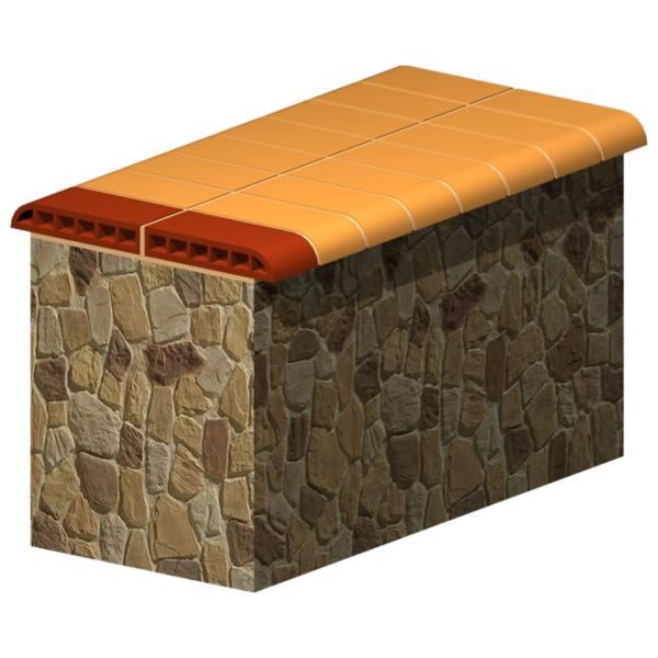 Wide Stone Wall Top Brick