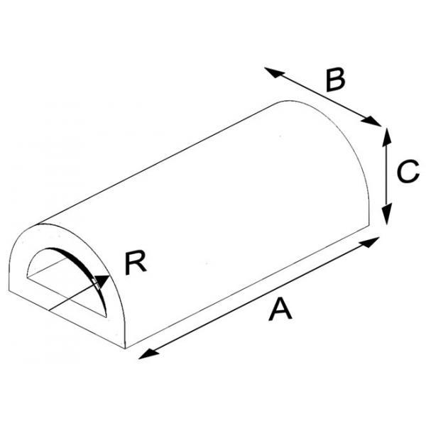 Oval Press Half Circle Brick