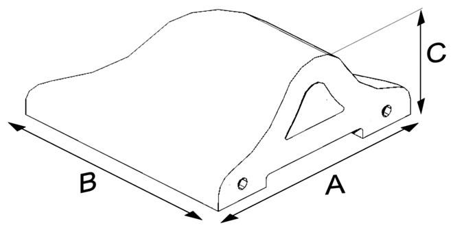 Oval Harpuşta Tuğlası 20 cm (Köşe)