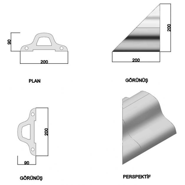 Oval Coping Brick 20 cm (Corner)