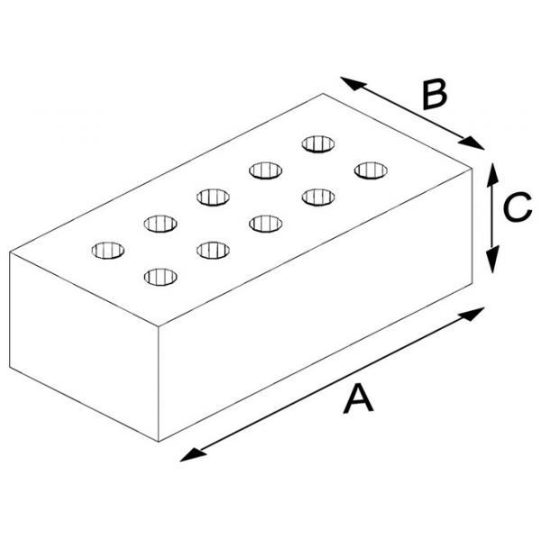 Large Clinker Pressed Brick