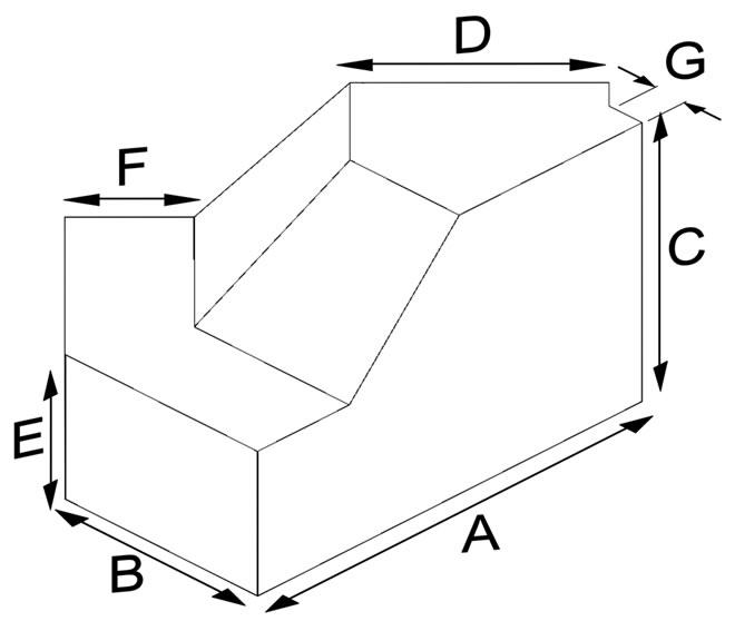 Klinker Bordür Dış Köşe Tuğlası (45º)