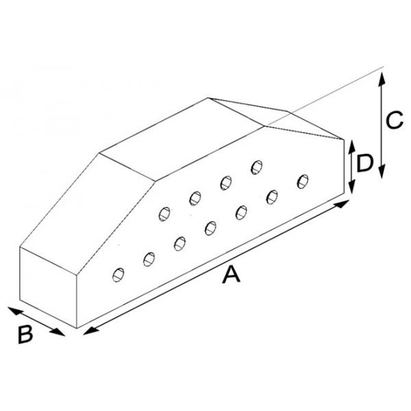 Large Coping Cut Brick