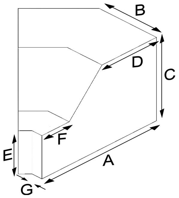 Klinker Bordür İç Köşe Tuğlası (45º)