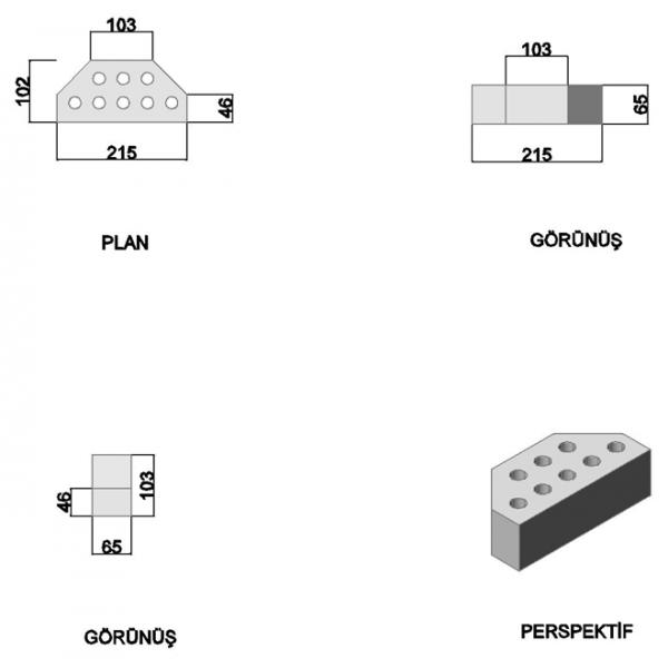 Angled Press Double Cut Corner Brick