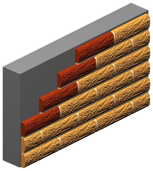 Stone Surface Brick Slip