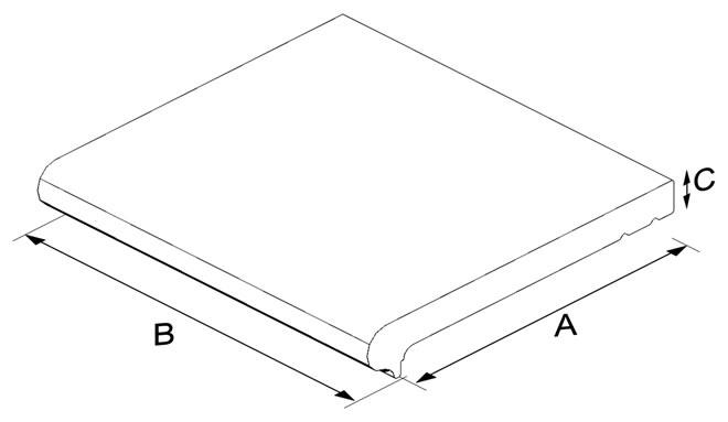 Yer Cottosu Basamak Elemanı (Uzun)