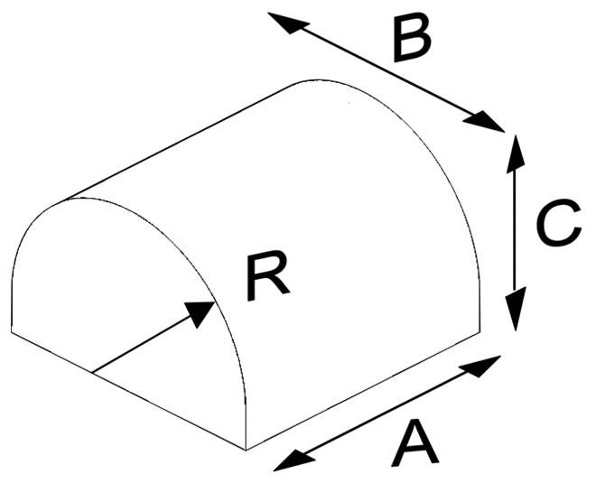 Oval Press Half Circle Brick (Solid)
