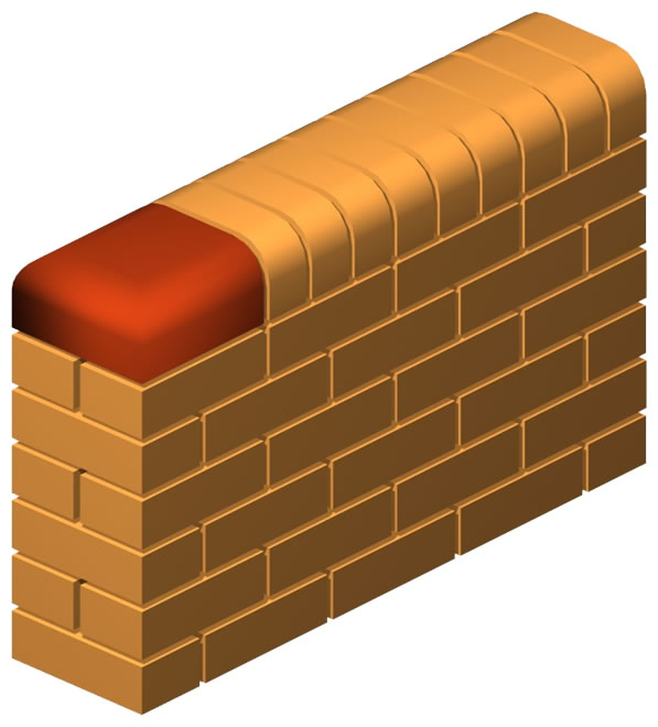Oval Press Double Nose End Brick