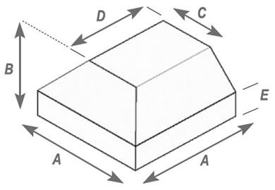 Angled Press Double Cornered Finish Brick