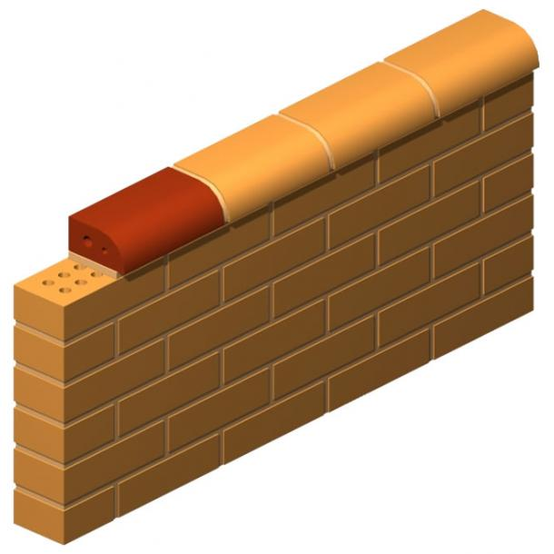 Flat Pressed Quarter Circle Brick (Large)