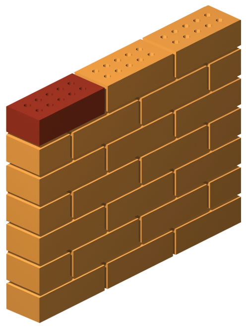 Double Sided Wire Cut Press Brick