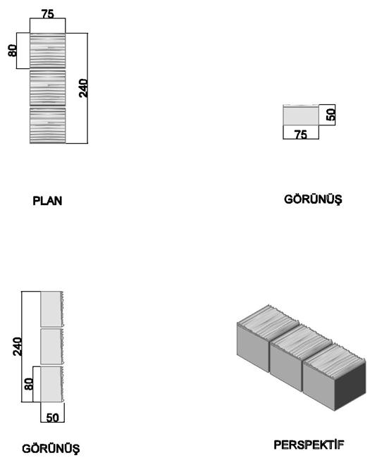 Mozaik Parke Tuğlası (3'lü)
