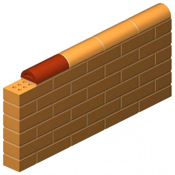 Flat Press Half Circle Brick