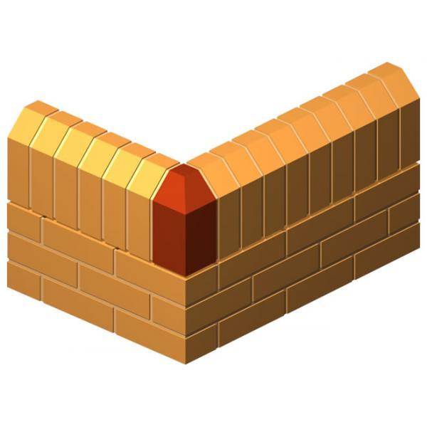 External Corner Return Press Brick