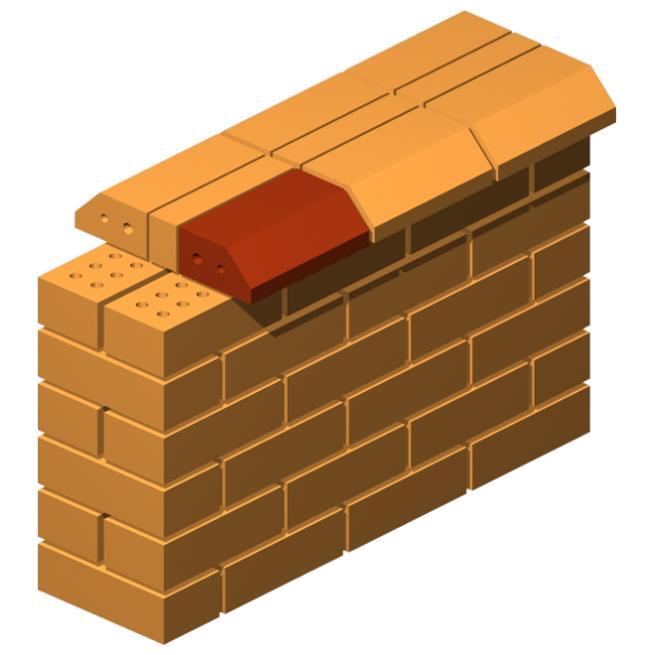 Angled Pressed Single Corner Brick (Thin) Straight