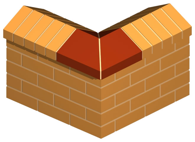 Large Coping Corner Brick