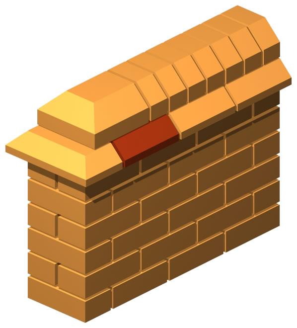 Angled Pressed Single Corner Brick (Thin)