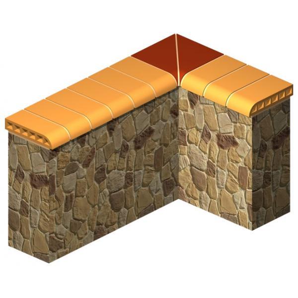 Stone Wall Coping Brick (Inner Corner)